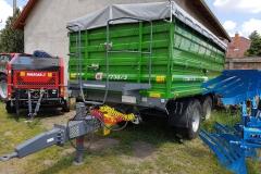 Metal-Fach T730-3 pótkocsi 2017 John Deere zöld szín 01